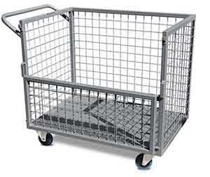 ITC340 Heavy duty trolley, full mesh with fold down gate