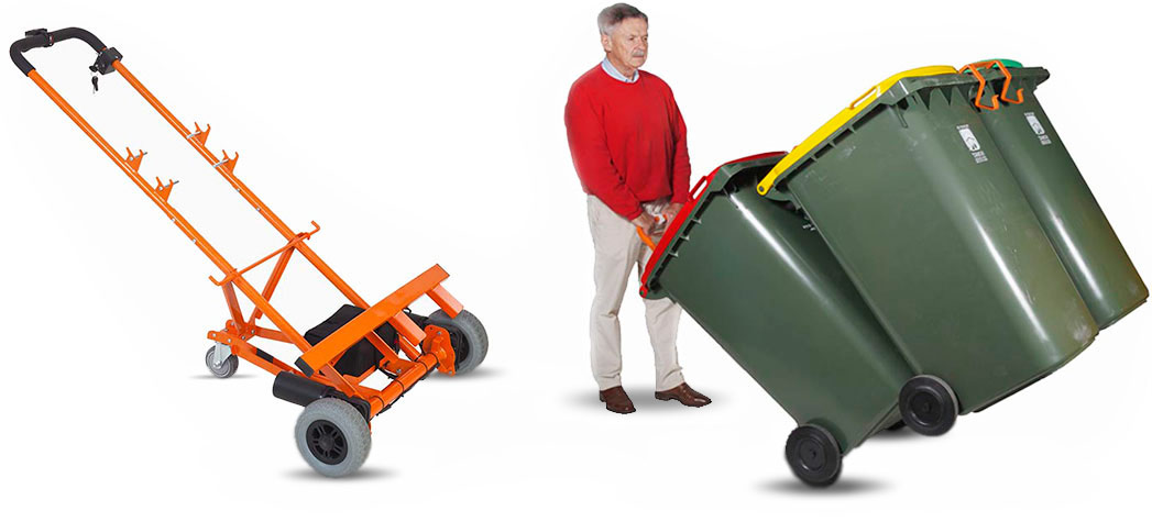 Heavy Duty Electric Bin Trolley moving multiple bins