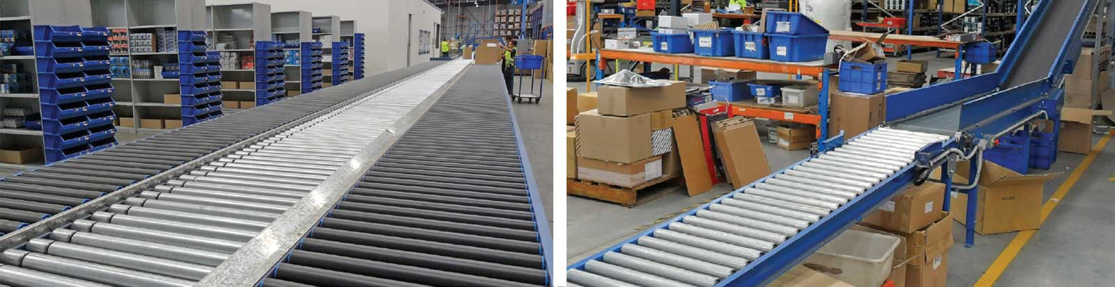 Gravity conveyor packages - application