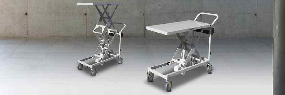 Scissor lift trolleys