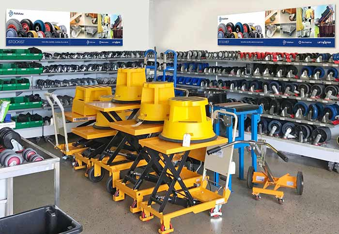 Castors and Industrial showroom