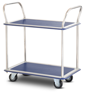 IT220 2-tiered platform trolley