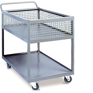 IT2TC340 Two tier fully levelled heavy duty trolley with half basket