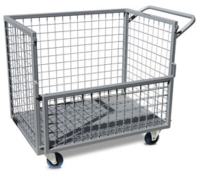 ITC340 Caged trolley with fold-down gate