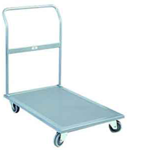 TS1A industrial platform trolley with folding handle