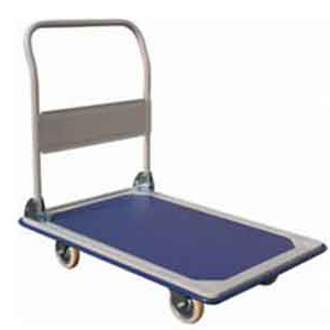 TSL11 industrial platform trolley with foldable handle