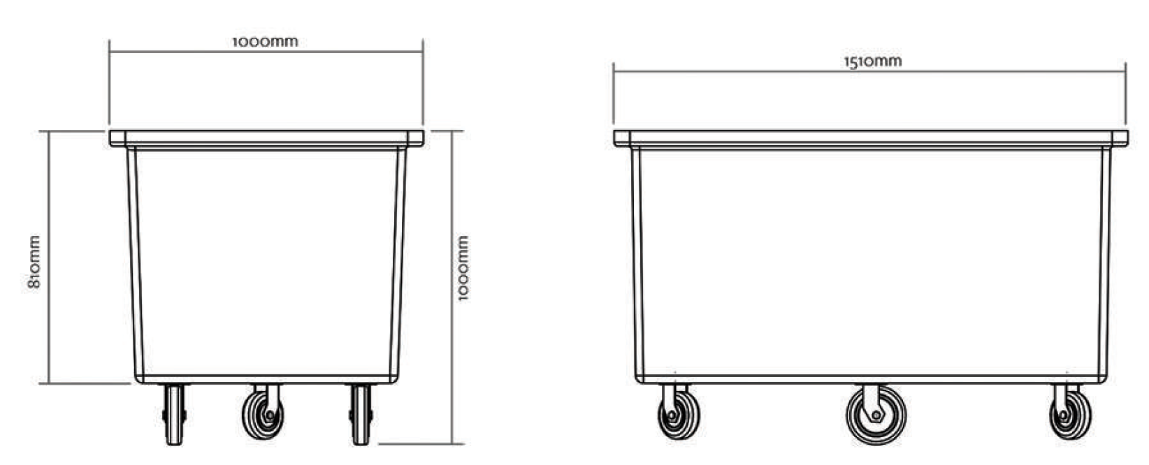 Large mobile poly tub diagram