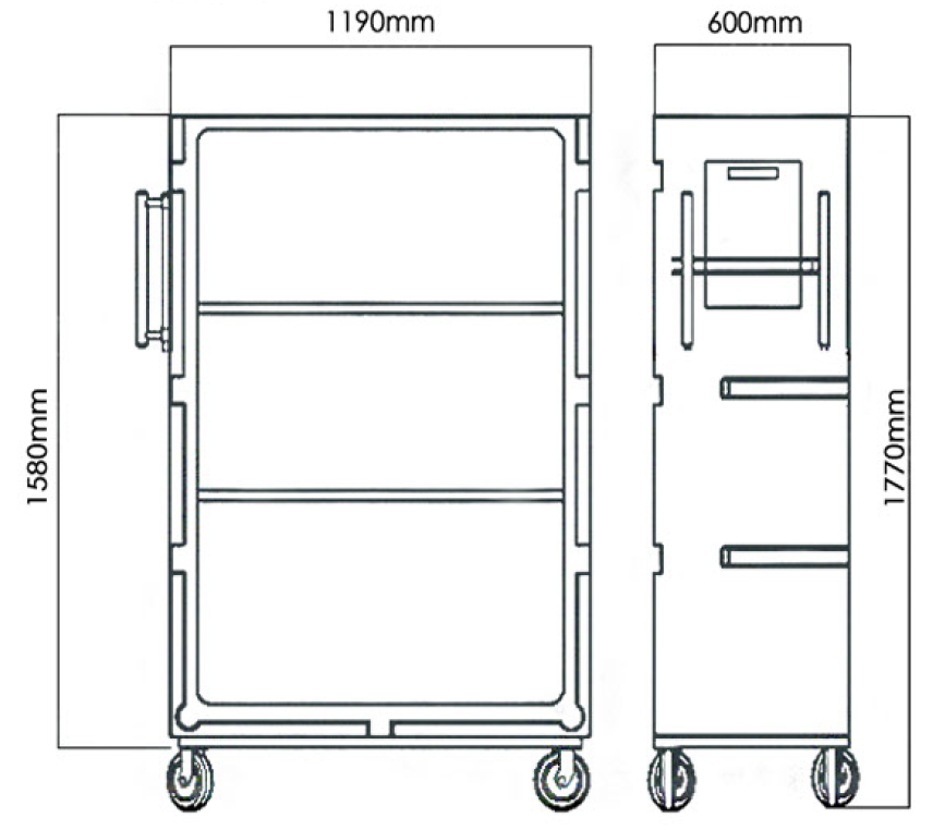 Rod PolyTroly laundry linen trolley diagram