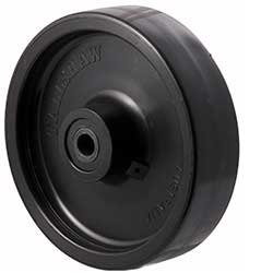 Solid black nylon wheels group