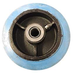 Blue rubber wheels group