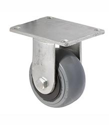 100 mm diameter grey non-marking rubber castors (300 kg load capacity) BOXSSIOSQ100/HZF