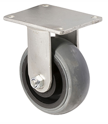 100 mm diameter grey non-marking rubber castors (330 kg load capacity) BOXSIOSQ125/HZF
