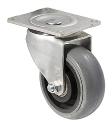100 mm diameter grey non-marking rubber castors (330 kg load capacity) BOXSIOSQ125/OZP